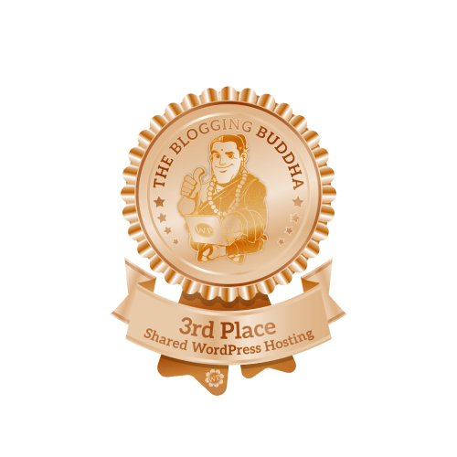 Bluehost Shared WordPress Hosting Provider 3rd Place