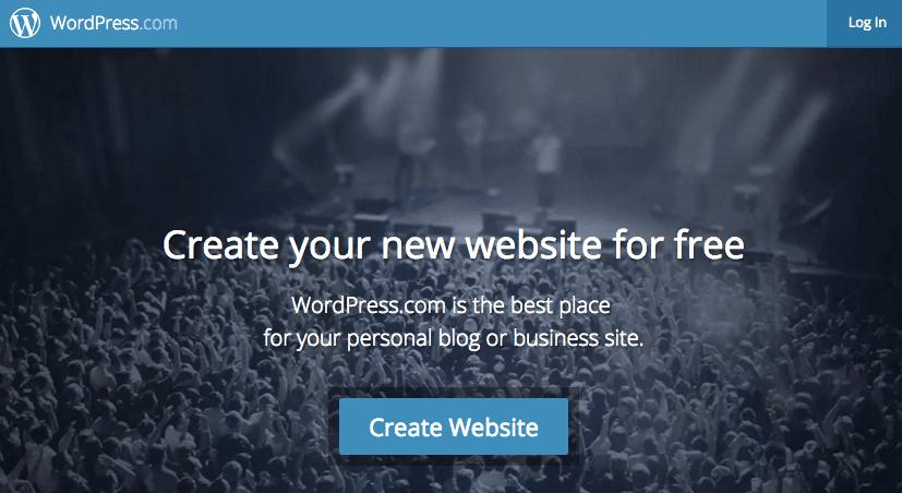 WordPress.com Screenshot
