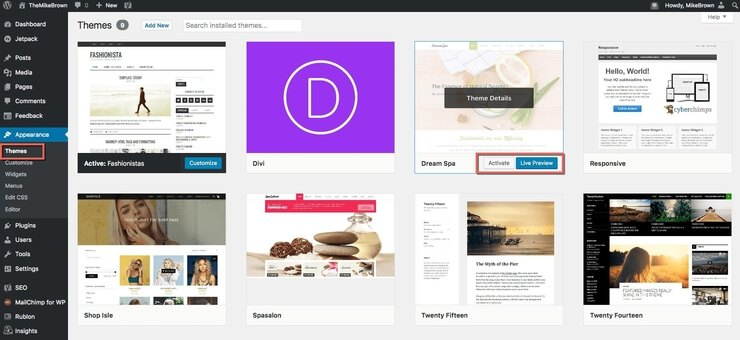 How To Activate WordPress Theme