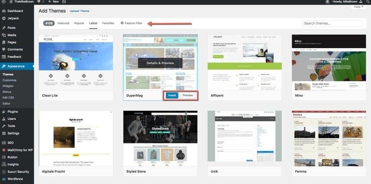 How To Search WordPress Theme