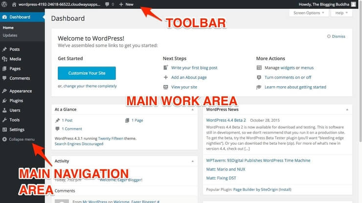 WordPress Blog Dashboard (Admin Area)