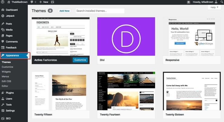 WordPress Blog Dashboard Theme