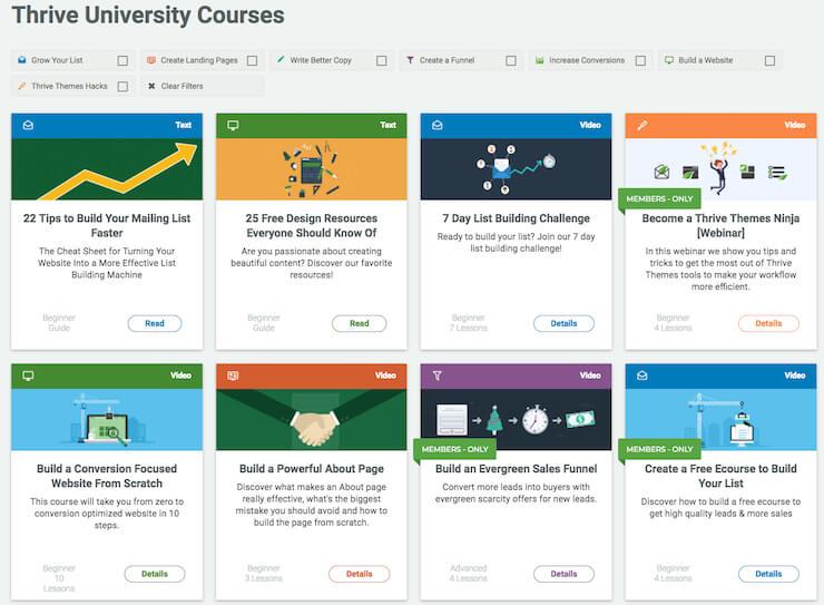 Thrive University Courses