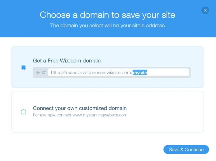 Wix domain names