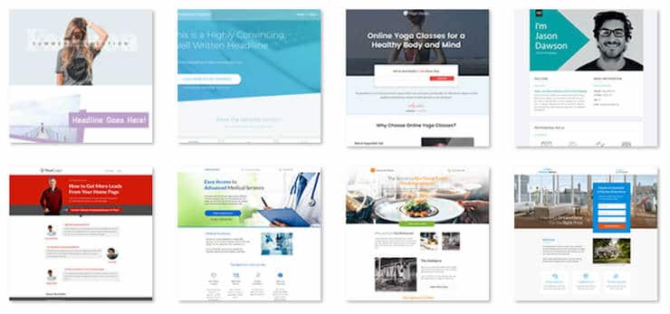 Thrive Architect Page Templates