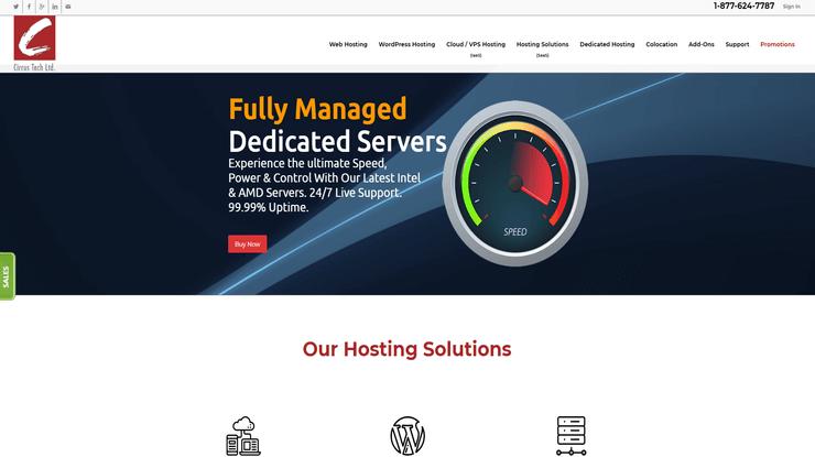 Cirrus Hosting Homepage